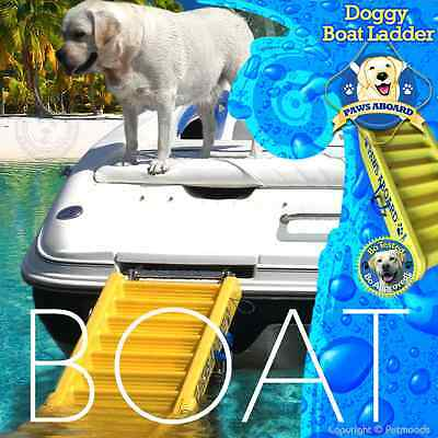 "Paws Aboard Pawz Dog Ladder Boat Floating [64"" x 16""] Large Dog up to 130 lb"