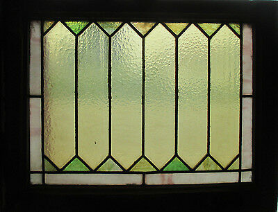 ~ ANTIQUE AMERICAN STAINED GLASS WINDOW ~ 24.5 x 19.75 ~ ARCHITECTURAL SALVAGE ~