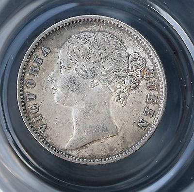1840 B India British Rupee KM# 458.3 Raised WW 28 Berries Silver Coin