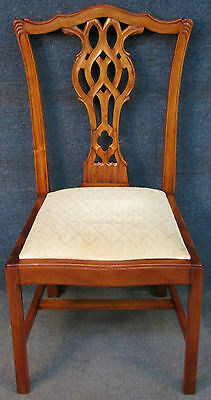 Hepplewhite Style Solid Mahogany Framed Small Side / Dressing Chair