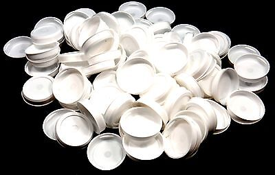 "New Pack of 100 2"" White Plastic End Caps for Mailing Tubes Free Shipping"