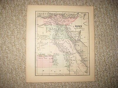 Gorgeous Antique 1856 Egypt Handcolored Map Middle East Red Sea Detailed Rare Nr