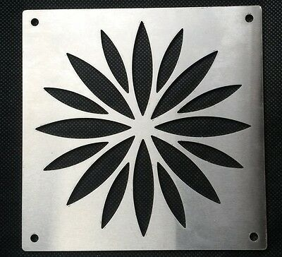 STAINLESS Square Air Ventilation Hole Cover Kitchen Bathroom Vent Flower Pattern