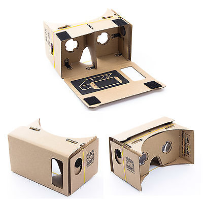 3D Virtual Reality VR Cardboard Glasses Headset for Google Android iPhone 5/se/6
