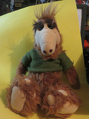 1980s VINTAGE ALF TOY COLLECTIBLE T.V FURRY FUZZY SPACE ALIEN  17 INCHES TALL