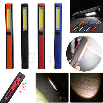 COB Magnetic Inspection LED Work Light Mini Pen Emergency Lamp Torch Camping