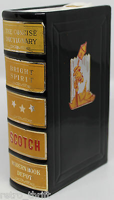 Concise Dictionary Book Bright Spirit Scotch Decanter Bottle Made in Japan 7""