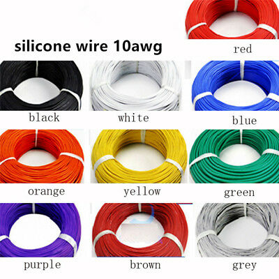 10AWG Flexible soft Silicone Wire RC Model Cable HighTemperature Tinned Copper