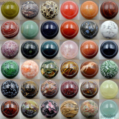 Wholesale 30mm Natural Gemstone Ball Crystal Healing Sphere Massage Rock Stones