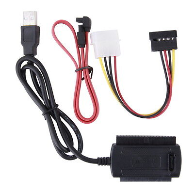 SATA/PATA/IDE Drive to USB 2.0 Adapter Converter Cable for 2.5/3.5 Hard Drive S