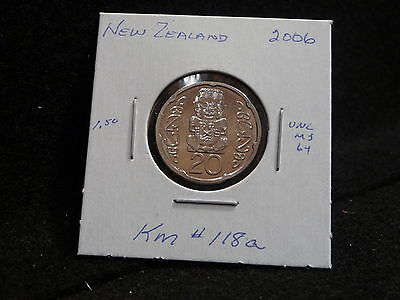 NEW ZEALAND :  2006     20 CENTS  COIN    (UNC.)    (#647)  KM# 118a