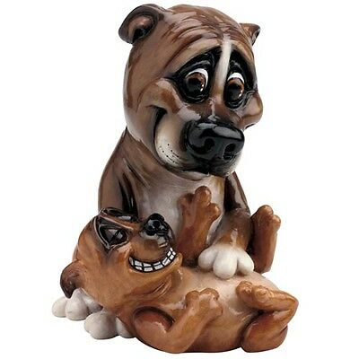 Pets With Personality 5510 Staffy And Pup Collectable Ornament