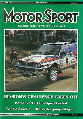 MOTOR SPORT magazine 4/88 feat. Portugese Rally, Longleat Stages, 911 Club Sport