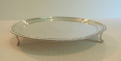 """PETER & WILLIAM BATEMAN ENGLISH STERLING SILVER 8"""" FOOTED TRAY / SALVER, c. 1805"""