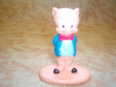 CAKE TOPPER Porky Pig PVC Figure 1987 FROM ADULT NON-SMOKING HOME .