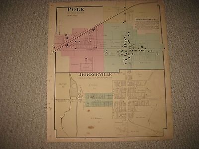 Perrysville Ohio Map.Antique 1874 Green Township Perrysville Loudonville Ashland County