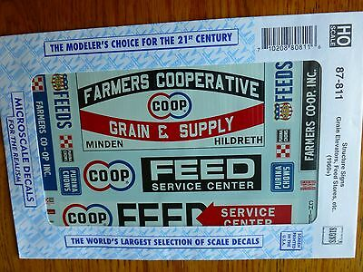 Microscale Decal HO  #87-811 Farming Signs #2 - Grain Elevators, Feed Stores (19