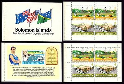 1984 Solomon Island Olympic Flag Swimming Stamp Booklet S42