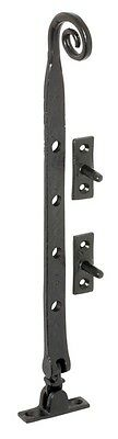 Vintage Window Latches - Black Sill Mount Casement Stay - 300mm