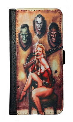 MARILYN MONROE'S MONSTERS GALAXY & iPHONE CELL PHONE CASE LEATHER COVER WALLET