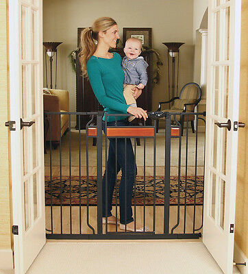 Regalo Home Accents Extra Tall Walk Thru Gate, Hardwood and Steel 320 New