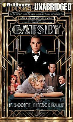 The Great Gatsby by F. Scott Fitzgerald (English) Compact Disc Book Free Shippin