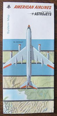February 1962 American Airlines System Map - Route of The Astro-Jets