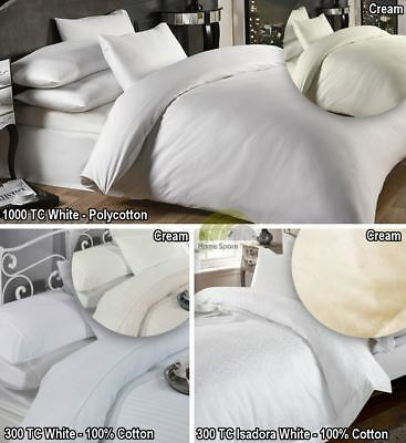 Hotel Style Percale Duvet Cover & Pillowcase Bedding Set Or Sheets 1000 Or 300TC