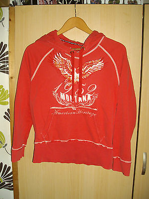 Next ~ Girls Pinky Red Ornate Hoody (Golden Studs) Age 14