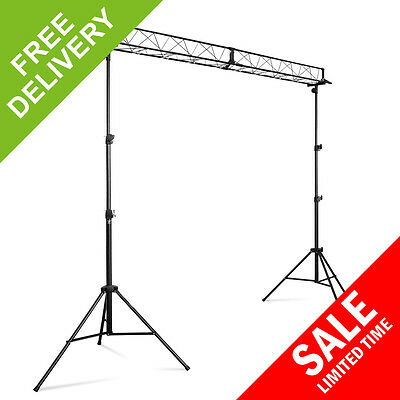 Vonyx Professional 3m Trussing Lighting Rig DJ Disco Mobile Stand Structure Kit