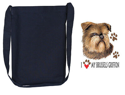 BRUSSELS GRIFFON  black cross body tote bag sling bag purse