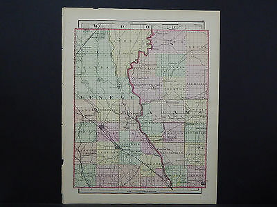 Wisconsin, 1876 County Map, Juneau/Adams or Monroe County, Double Sided M11#25