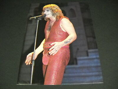 OZZY OSBOURNE wearing red codpiece... Vintage full page magazine FRAMEABLE IMAGE