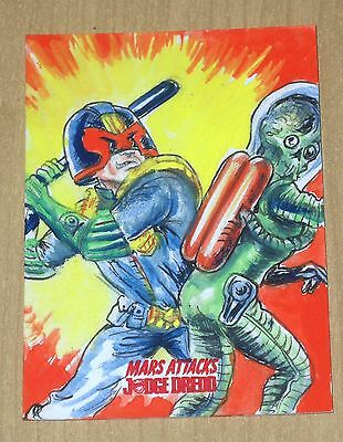 15 Topps Mars Attacks Occupation Kickstarter Judge Dredd sketch Neil Camera b