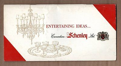 ENTERTAINING IDEAS CANADIAN SCHENLEY LTD Mixing Drinks Bartender 1960s GUIDE
