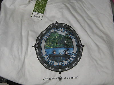 Live to Fish, Fish to Live Light Material Boy Scout Sweat Shirt size 2xl    eb14