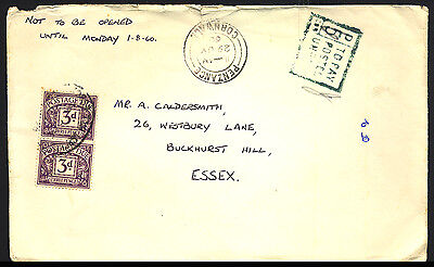 1969 Great Britain - Nice Postage Due - 2 X 3D - Cover - J2