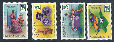 1982 Barbados - 75Th Anniversary Of World Scouting - Muh - J6