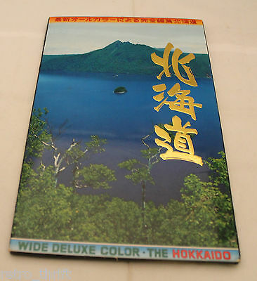 Set of 20 Wide Deluxe Color of Hokkaido Japan Large Postcard Nature AS-IS