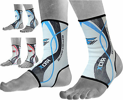 RDX Ankle Foot Support Anklet Pads MMA Brace Guard Gym Sport Sock Protector AU