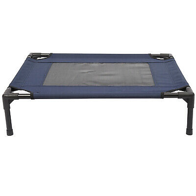 PawHut Pet Puppy Raised Bed Cot Dog Cat Elevated Cots Trampoline Indoor Outdoor