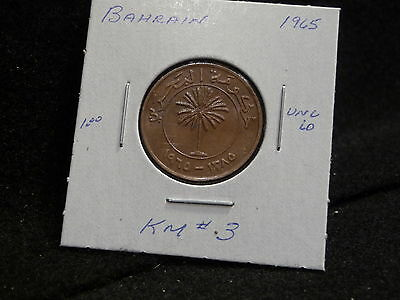 KINGDOM of BAHRAIN:   1965     10  FILS  COIN     ( UNC.)   (#740)   KM # 3