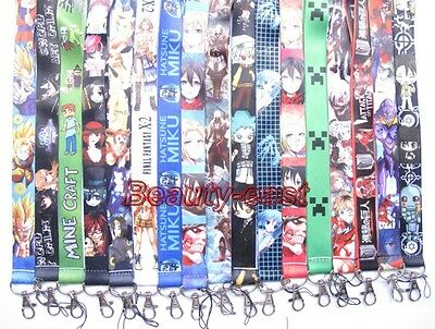 Lot mixed Japanese anime Mobile Cell Phone Lanyard Neck Straps Party Gifts C-41