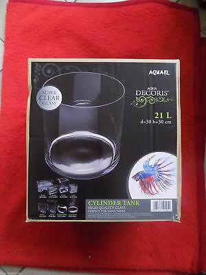 Aquael Decoris Glasbecken Deco Glas Behälter Vase Aquarium Zylinder 21L