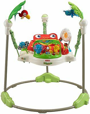 NEW Fisher-Price Rainforest Jumperoo Baby Infant Jumper Toy Music Lights Sounds