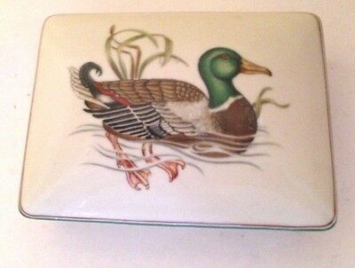 Fitz Floyd Covered Box Canard Sauvage Duck Divided Card Box Business Playing
