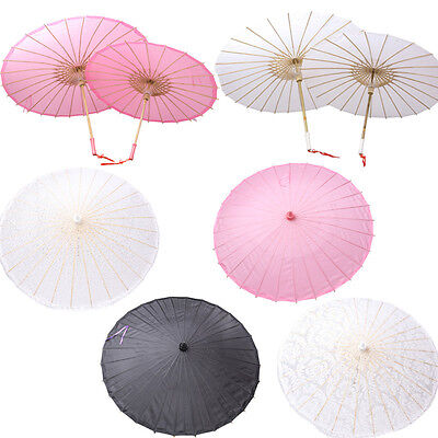 Bamboo Polyester Paper Umbrella Parasol Dancing Wedding Bridal Party Coasplay