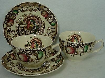 JOHNSON BROTHERS china HIS MAJESTY pattern Lot of Two (2) Cup & Saucer Sets