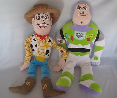 "Disney Toy Story 3 Woody & Buzz Lightyear  26"" Plush Stuffed Animal Large Size"