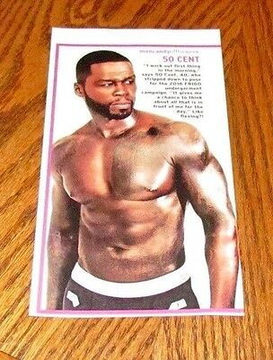 Shirtless 50 CENT 4X7 PINUP Clipping Male Singer Tattoos Chest Abs